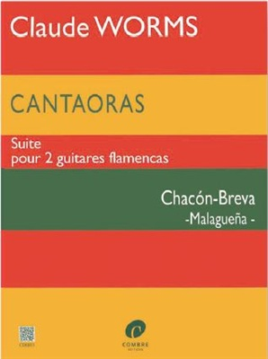 Malagueña for two Guitars: Chacón-Breva (Book) - WORMS Claude