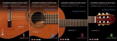 Flamenco Guitar in 48 lessons (4 DVDs Pack) by Jose Manuel Montoya