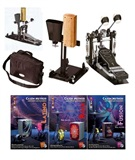 Double pedal, Cowbell & Wooden block + DVDs Cajon Method and other percussions, Dany Moreno